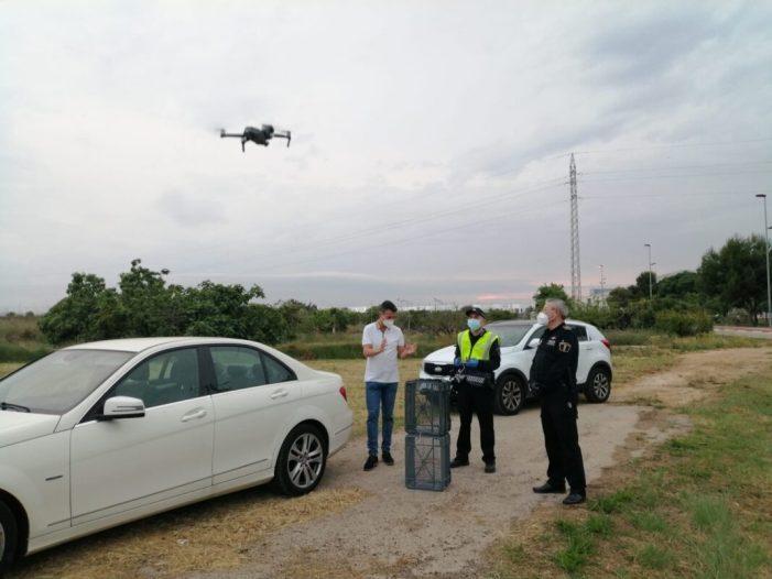 La Policia Local d'Almussafes comença a utilitzar el seu dron per a tasques de videovigilància