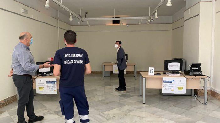 El Servei d'Atenció al Ciutadà de l'Ajuntament de Burjassot reprén l'atenció personal amb cita prèvia i totes les mesures de seguretat per a treballadors i usuaris