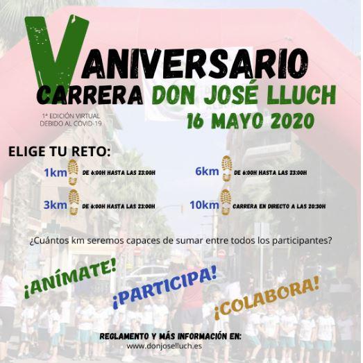 La V Carrera Solidària Don José Lluch celebra la seua primera edició virtual