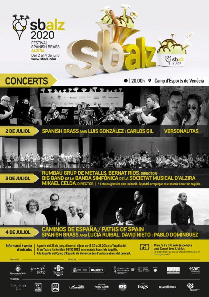 La XIX edició del Festival Spanish Brass Alzira se celebra del 2 al 4 de juliol