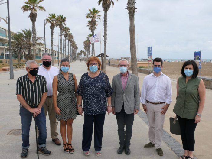 La delegada del Govern visita les platges d'Alboraia