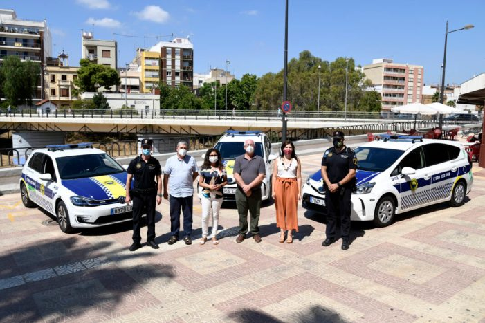 Paiporta renova la flota de cotxes de Policia Local amb tres nous vehicles elèctrics