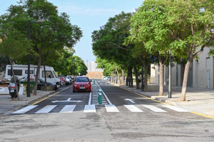 Mobilitat Sostenible executa treballs de calmat del trànsit rodat en Beniferri