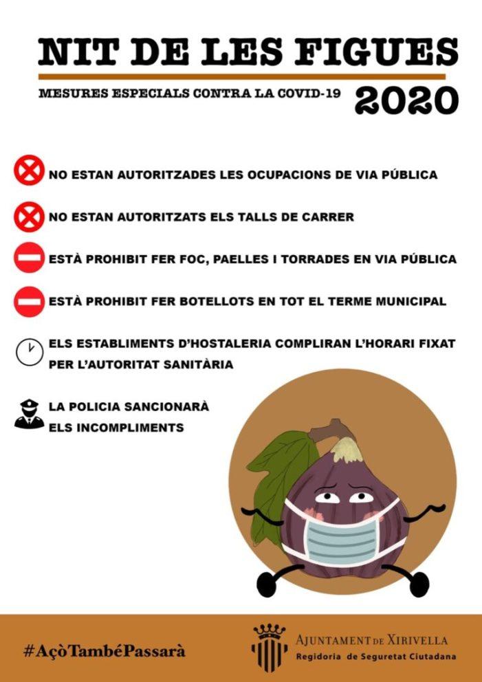 Xirivella reforça les restriccions en la tradicional Nit dels Figues