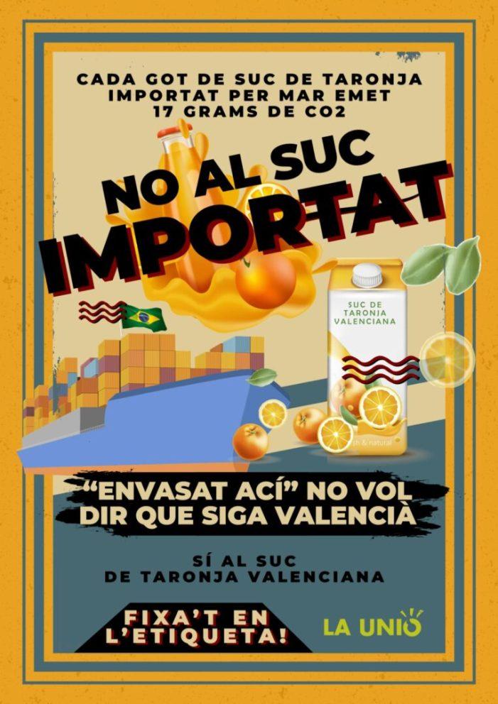 LA UNIÓ de Llauradors insta les Administracions a potenciar el consum de suc amb cítrics frescos valencians
