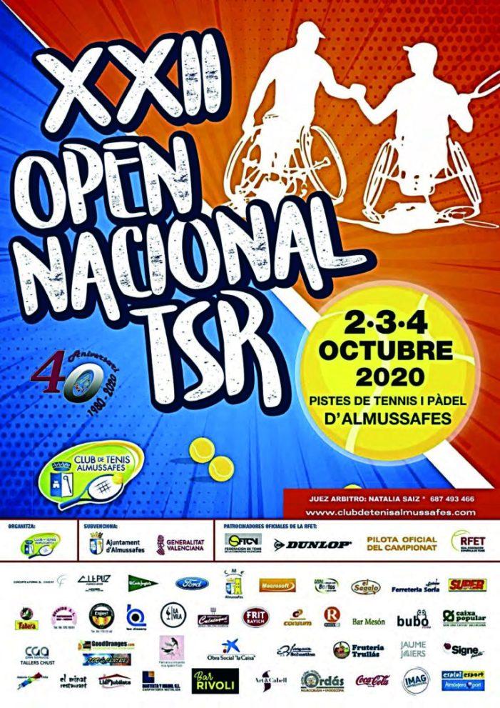 Almussafes acull del 2 al 4 d'octubre el seu XXII Open Nacional de Tennis en Cadira de Rodes