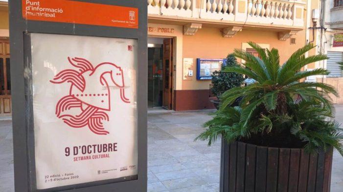 Foios prepara la 22 edició de la Setmana Cultural, del 2 al 9 d'Octubre