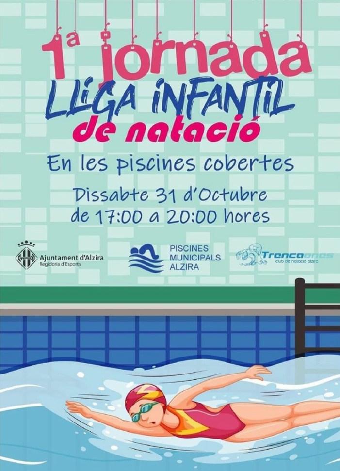 El Departament d'Esports d'Alzira retransmetrà este dissabte a través de la seua pàgina de Facebook la competició de natació infantil