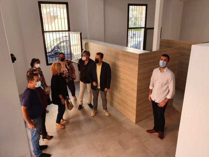 L'Ajuntament visita les obres finalitzades de la  futura seu de la Creu Roja a Sueca