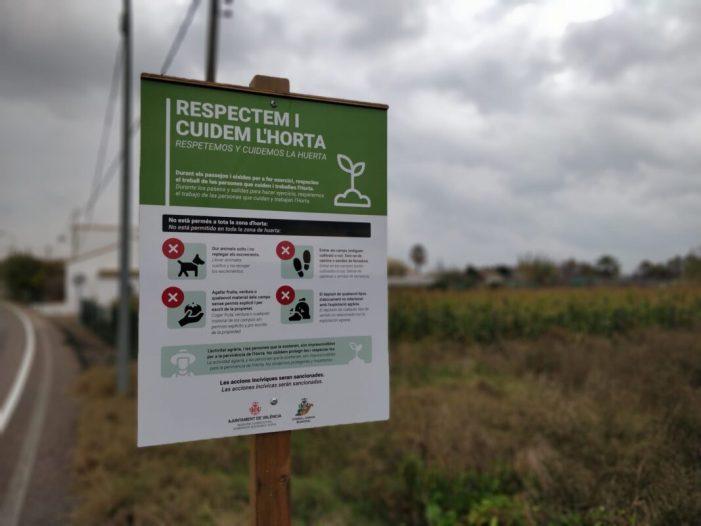 L'Ajuntament enceta una campanya de conscienciació per cuidar i respectar l'horta de València