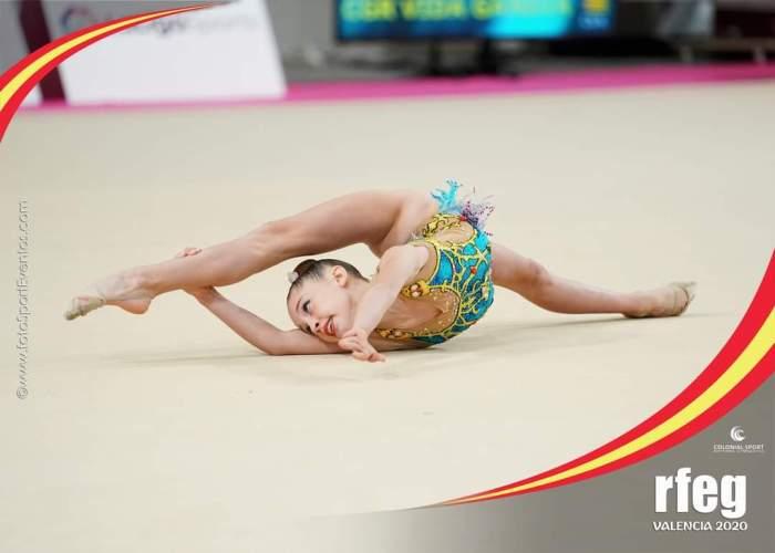 La gimnasta del Club Aceus Sueca Noa Esplugues aconsegueix diploma nacional