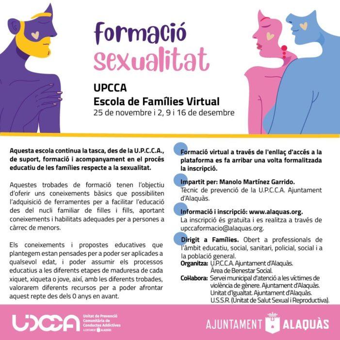 Alaquàs ha celebrat amb èxit la primera experiència formativa en línia posada en marxa per l'Escola de Famílies Virtual