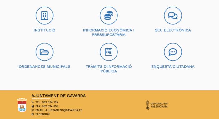 Gavarda enfortix la transparència municipal amb nous apartats en la seua renovada pàgina web