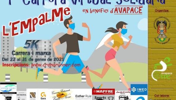 Última setmana per a apuntara a la I Carrera virtual solidària en benefici d'Avapace de la Falla Mariano Benlliure