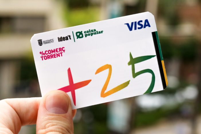 450.000 euros gastats en comerços local amb la Targeta +25 de l'Ajuntament de Torrent