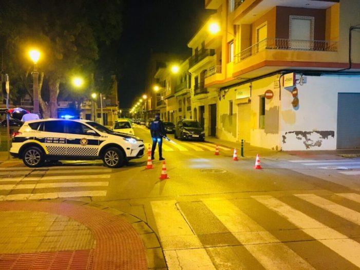 La Policia Local de Foios interposa 20 denúncies per incompliment de les restriccions des de principi d'any