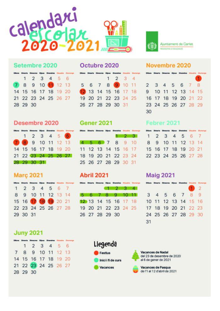 El Consell Escolar Municipal de Carlet manté els dies 17 i 18 de març de vacances escolars