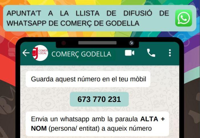 Godella crea una llista de difusió de whatsapp per a la informació relativa als comerços i professionals