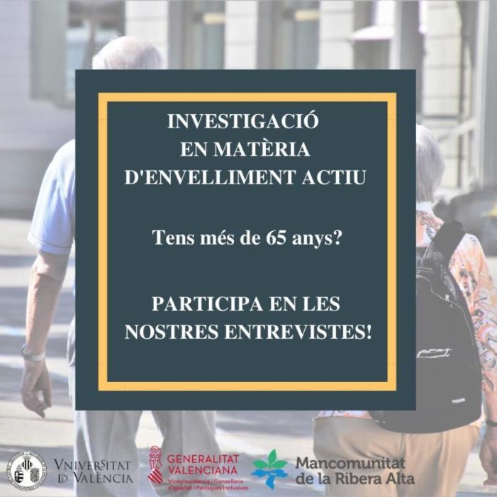 La Mancomunitat de la Ribera Alta i la Universitat de València estudiaran l'envelliment actiu en la Comarca