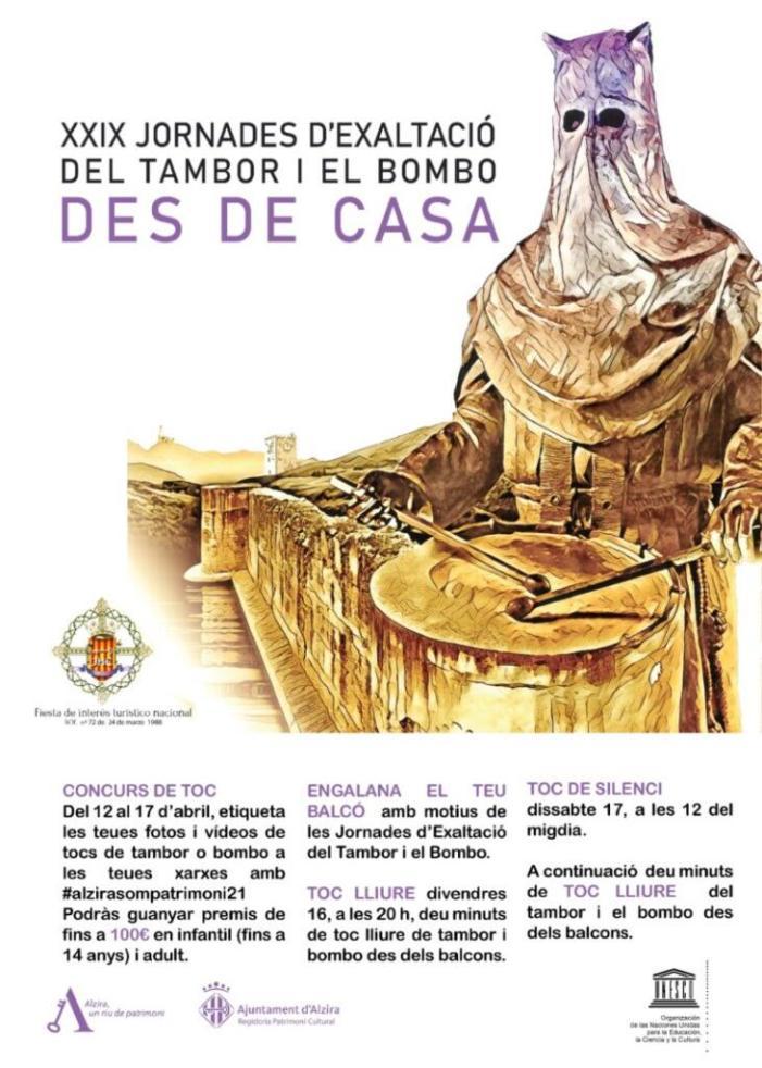 Jornades d'Exaltació del Tambor i el Bombo des de casa