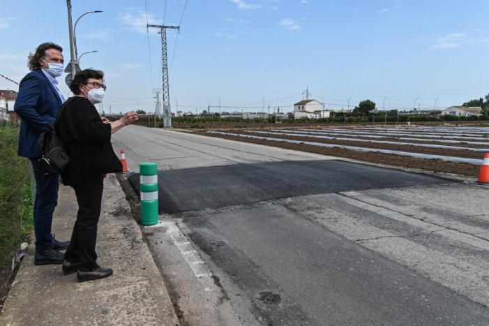 Mobilitat sostenible realitza una actuació de pacificació del trànsit en el camí de Carpesa a Montcada a València