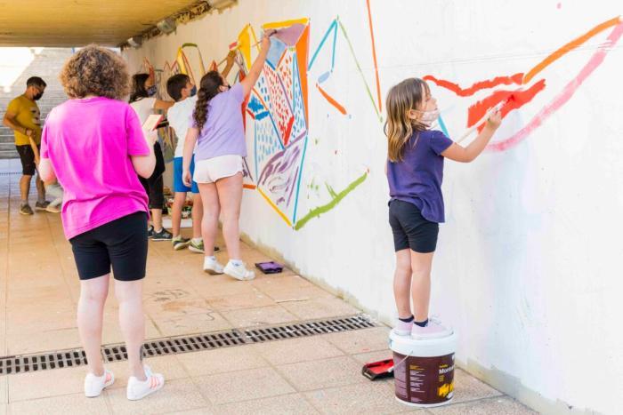 Cromàpica torna amb un mural participatiu a la Font de l'Omet de Picassent