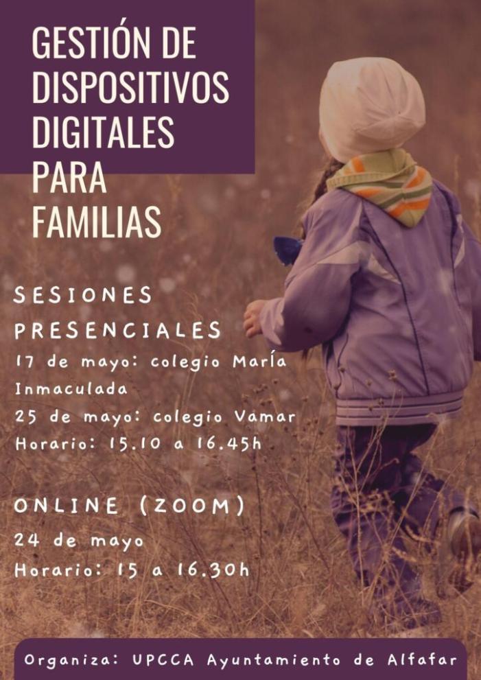 Alfafar forma a les famílies sobre l'ús dels menors de dispositius digitals