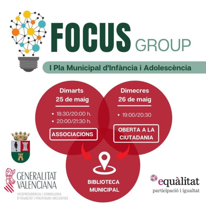 L'Ajuntament de Benifaió convoca dues sessions participatives en matèria d'infància i adolescència