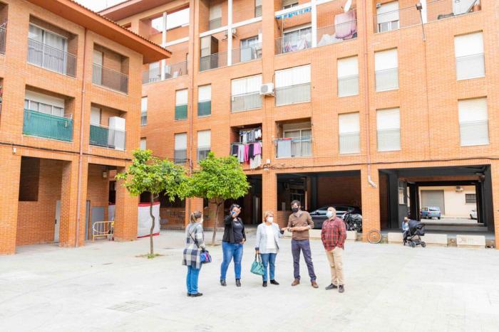A punt de finalitzar les obres de rehabilitació de les vivendes del barri Les Palmeres de Picassent