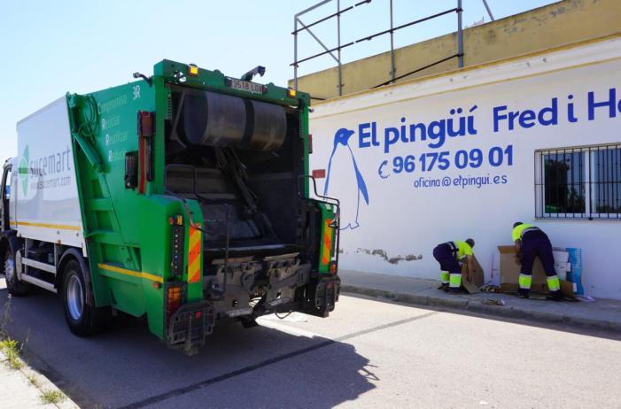 Comença el servei exclusiu de recollida de cartó per als comerços i empreses d'Alginet