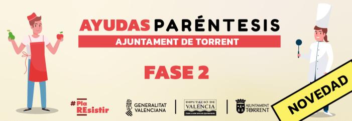 L'Ajuntament de Torrent ha rebut 278 peticions per a sol·licitar les ajudes del Pla Parèntesi fase 2