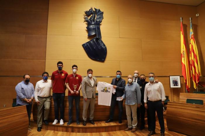 La Diputació rep al CB Alginet després del seu històric ascens a la tercera categoria del bàsquet nacional