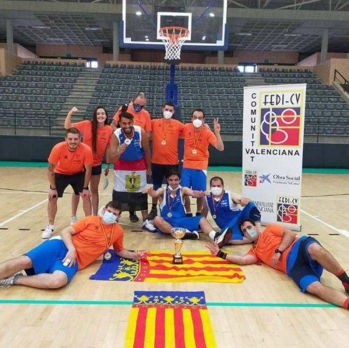 ADERES Burjassot és partícip d'un nou triomf de l'equip de bàsquet que representa a la Comunitat Valenciana en les competicions de la FEDDI