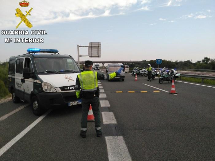 """La Guàrdia Civil de València procedeix contra una persona per un presumpte delicte contra la seguretat viària """"ABANDÓ DEL LUGAL DEL SINISTRE VIAL"""""""