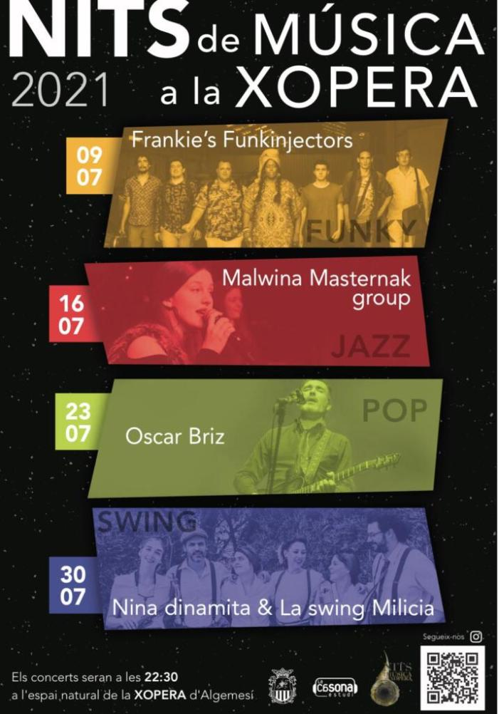 Tornen a Algemesí les Nits de Música a la Xopera amb quatre concerts durant el mes de juliol