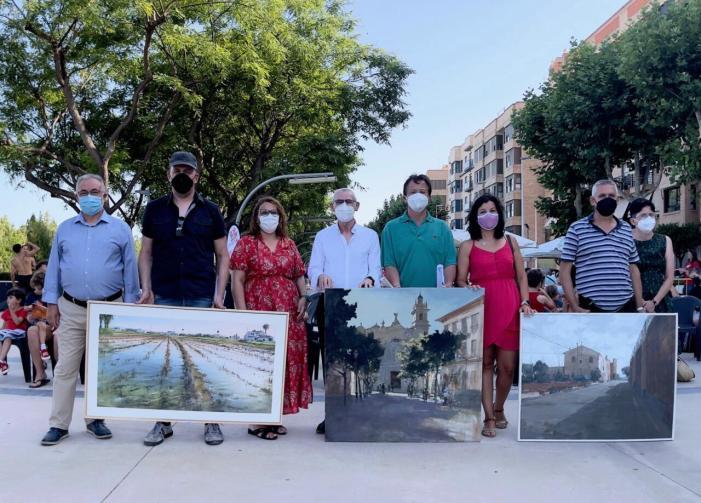 """Alboraia lliura els premis del VIII Concurs de pintura a l'aire lliure """"Pinta al Carrer"""""""