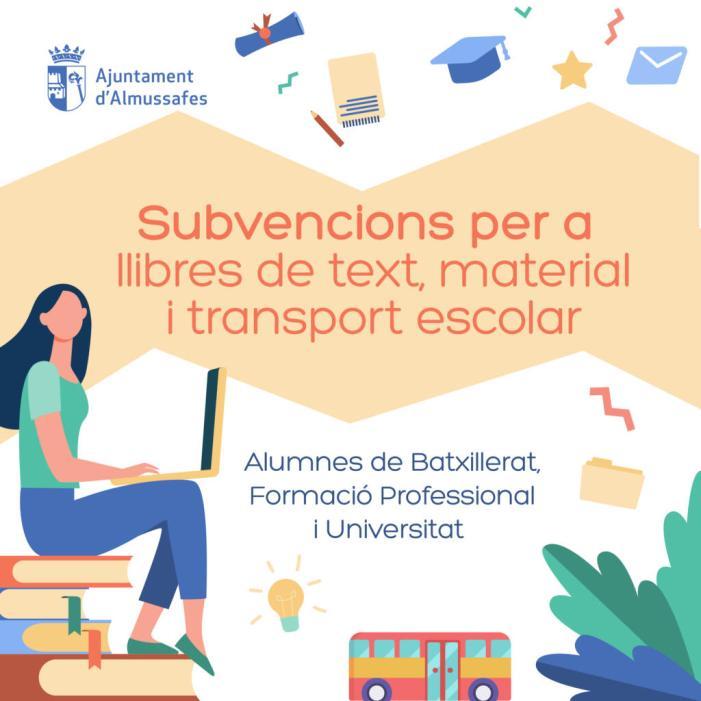 Almussafes destina 23.000 euros a les ajudes per a estudiants de Batxillerat, FP i universitats