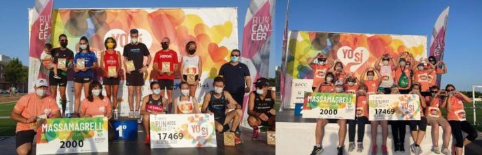 Borja Añón i Marta Esteban guanyen la RunCáncer 2021 de Massamagrell