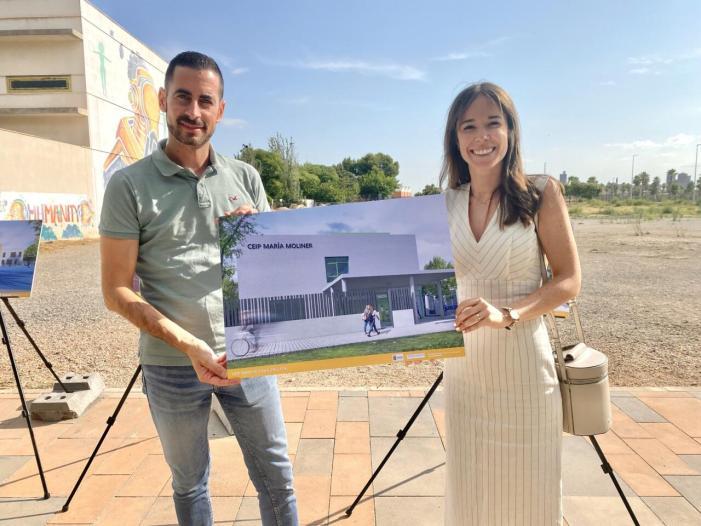 El nou col·legi María Moliner de Mislata inicia hui la seua construcció