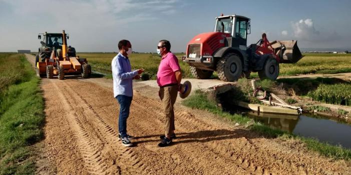 El Consell Agrari repara els camins rurals de la marjal entre Pinedo i el Saler