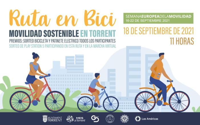 Torrent organitza la Ruta amb bici, dins dels actes programats en la Setmana Europea de la Mobilitat