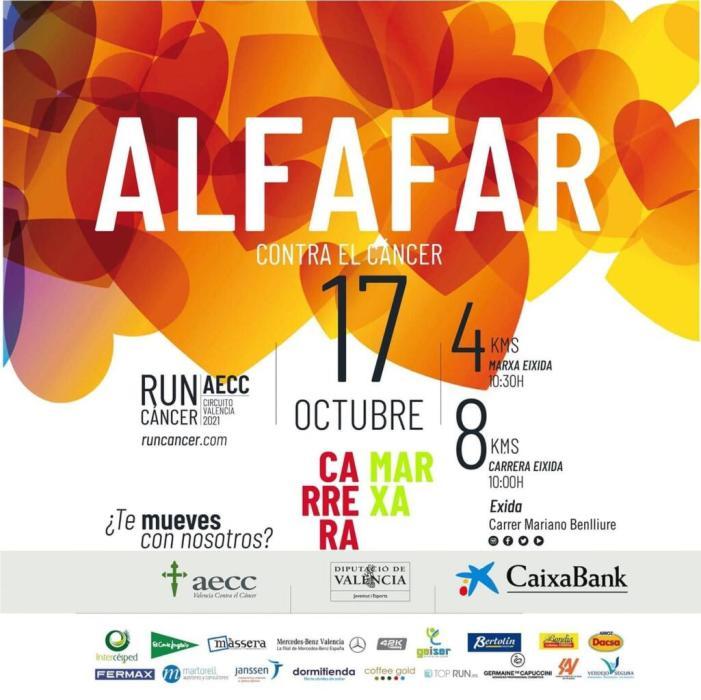 Alfafar correrà la RunCáncer el pròxim 17 d'octubre