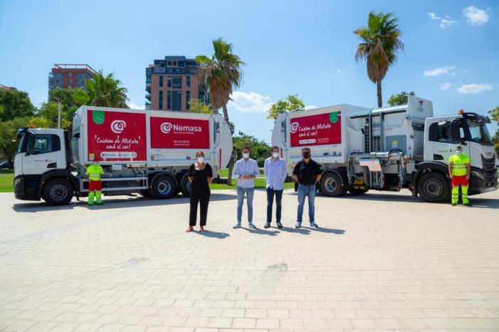 Mislata incorpora dos camions de recollida de residus propulsats per gas en la seua aposta per la mobilitat sostenible