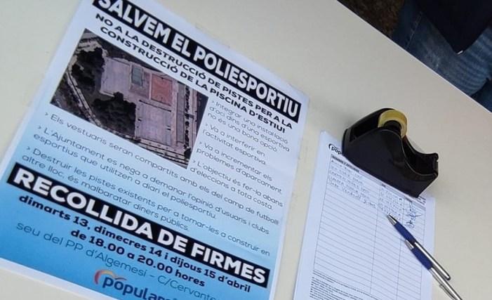 PP d'Algemesí: 1.100 veïns signen contra la destrucció del Poliesportiu