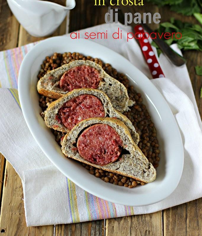 Cotechino in crosta di pane ai semi di papavero