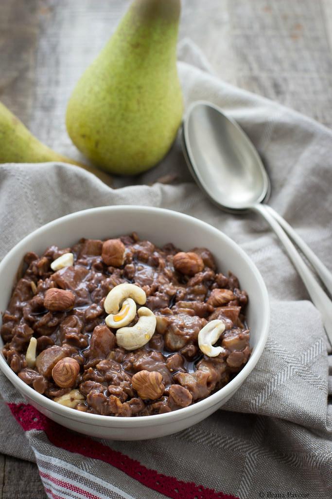 Porridge pere e cioccolato2