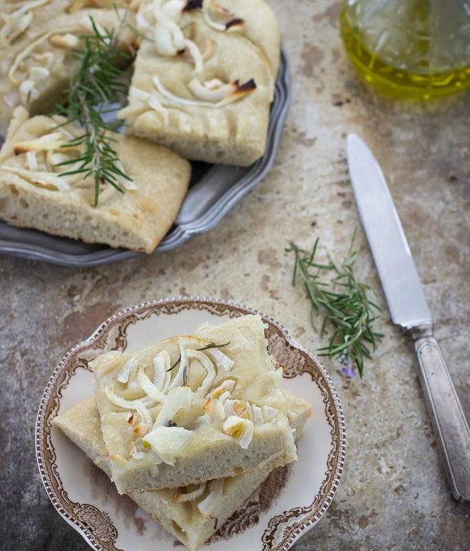 Focaccia con cipolle per Taste Abruzzo