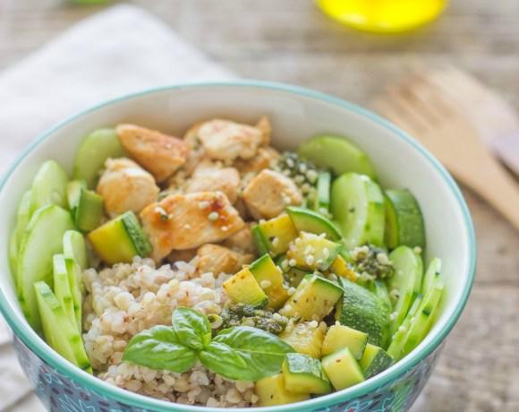 Bowl di grano saraceno e pollo