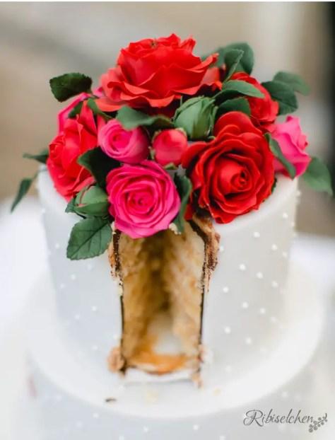 Hochzeitstorte Rosen 17