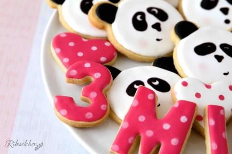 Royal Icing Kekse zum 3. Geburtstag